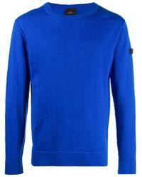 Jersey liso con cuello redondo Peuterey de hombre de color Blue