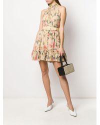 Zimmermann フローラル ノースリーブドレス Natural