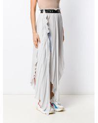 Unravel Project アシンメトリー プリーツスカート Multicolor
