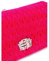 Miu Miu - Pink Woven Clutch - Lyst