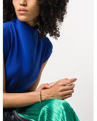Shamballa Jewels - Metallic 18kt Rose & Diamond Non-braided Beaded Bracelet - Lyst
