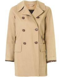 Короткий Тренч Louis Vuitton, цвет: Brown