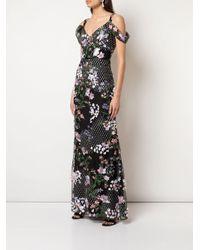 Вечернее Платье С Цветочной Вышивкой Marchesa notte, цвет: Black