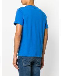 AMI Blue Ami De Coeur T-shirt for men