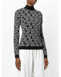 Sportmax - Black Steady Run! Knitted Top - Lyst