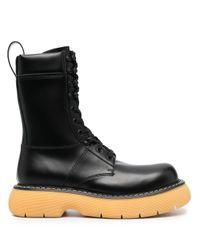 Bottega Veneta Black The Bounce Contrasting-sole Boots for men