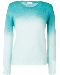 Majestic Filatures Blue Ombre Round Neck Sweater