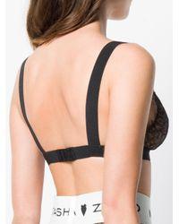 Natasha Zinko Black Lace Triangle Bra