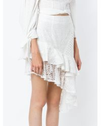 Martha Medeiros - White Lace Asymmetric Skirt - Lyst