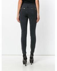 RTA - Gray Zip Detail Skinny Jeans - Lyst