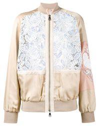 N°21 Multicolor Macrame Lace Bomber Jacket