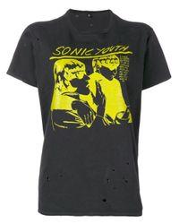 R13 Sonic Youth Tシャツ Multicolor