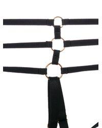 Bordelle Black Webbed Harness Briefs