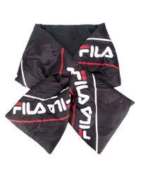 Écharpe à logo imprimé Fila en coloris Black