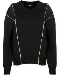 DIESEL ジップディテール スウェットシャツ Black