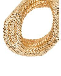 Burberry Metallic Gold-plated Chain-link Hoop Earrings for men