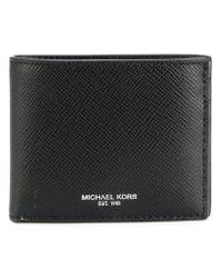 Michael Kors - Black Logo Stamp Billfold Wallet for Men - Lyst