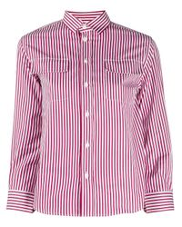 Chemise rayée à manches trois quarts Maison Margiela en coloris Red