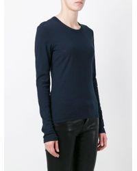 James Perse Ls Crex ロングtシャツ Blue