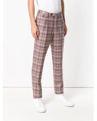 PT01 Tailored Plaid Trousers for men