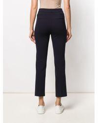Pantalon droit crop Peserico en coloris Blue
