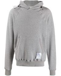 Satisfy Kapuzenpullover mit Logo-Patch in Gray für Herren