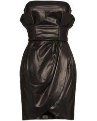 Miniabito senza spalline di Versace in Black