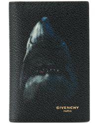 Givenchy Black Shark Bi-fold Cardholder Wallet for men