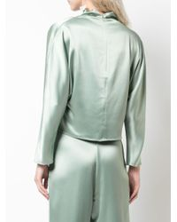 Sally Lapointe Green Oversized Mock-neck Top