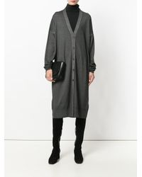 Tomas Maier - Gray Oversized Cardigan - Lyst