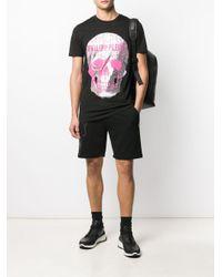 メンズ Philipp Plein スカル ショートスリーブ Tシャツ Black