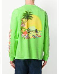 Stussy - Green Graphic Print Sweatshirt for Men - Lyst