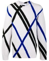 Christian Wijnants Blue Kaman Intarsia Knit Jumper for men