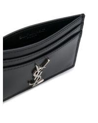 Футляр Для Карт С Бляшкой С Логотипом Saint Laurent для него, цвет: Black
