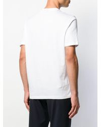 T-shirt Tokyo Skyline Emporio Armani pour homme en coloris White