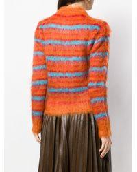 Cardigan à rayures Marni en coloris Orange