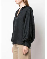 Nili Lotan Black Bluse mit Paisley-Print