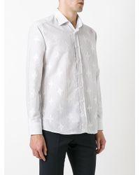 Etro - Blue Striped Shirt for Men - Lyst