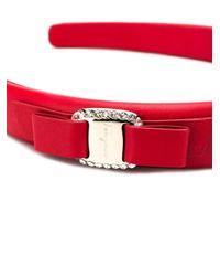 Ободок Vara Bow С Кристаллами Ferragamo, цвет: Red