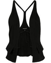 Ann Demeulemeester Black Open Front Tailored Waistcoat