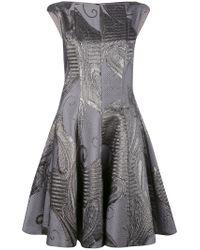 Talbot Runhof - Gray Korbut Dress - Lyst