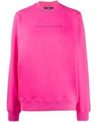 DIESEL Pink Sweatshirt mit Logo-Print
