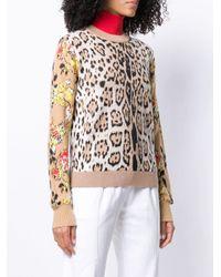 Sweat à imprimé léopard MSGM en coloris Brown