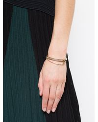 Eddie Borgo - Metallic Extra Thin Safety Chain Bracelet - Lyst