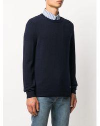 メンズ A.P.C. ロゴ セーター Blue