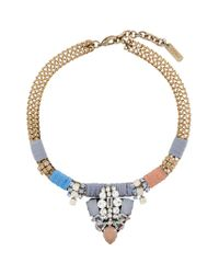 Rada' - Metallic Rhinestone Embellished Necklace - Lyst