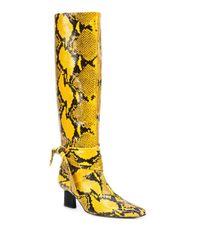 Rosetta Getty Yellow Snakeskin Effect Boots