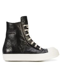 Rick Owens Black High Ramone Sneakers for men