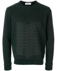 Stone Island Green Printed Sweatshirt for men