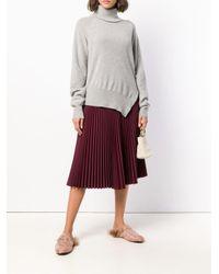 Zanone Gray Pullover mit seitlichen Schlitzen
